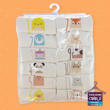 لباس ماهگرد نوزاد طرح حیوانات۳