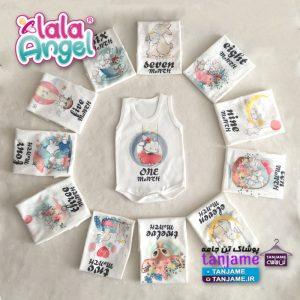 لباس ماهگرد نوزادی لالاآنجل طرح بانی